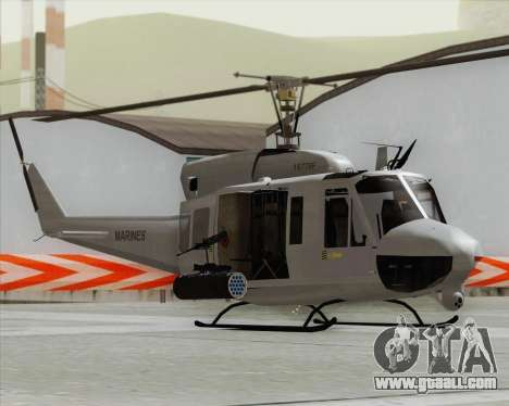 Bell UH-1N Huey USMC for GTA San Andreas back left view