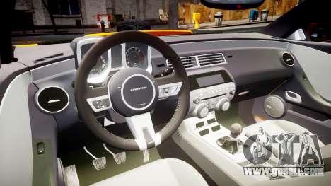 Chevrolet Camaro SS for GTA 4 back view