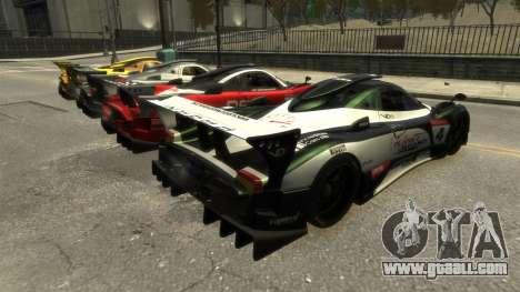 Pagani Zonda R for GTA 4 left view