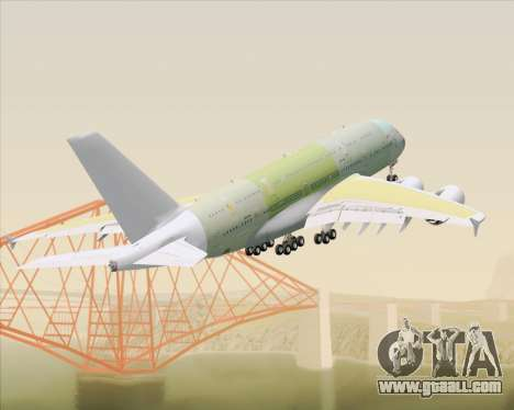 Airbus A380-800 F-WWDD Not Painted for GTA San Andreas bottom view