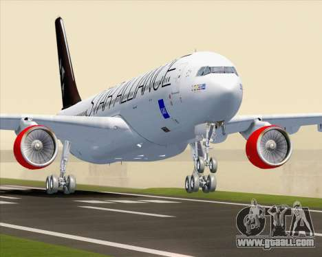 Airbus A330-300 SAS Star Alliance Livery for GTA San Andreas
