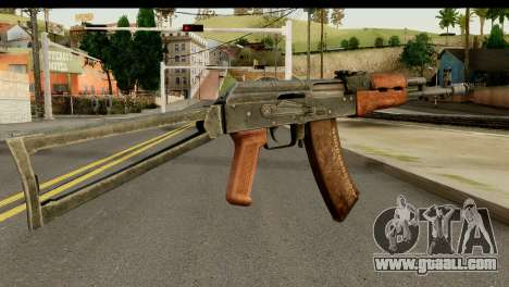 AKS-74 Dark Wood for GTA San Andreas second screenshot