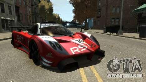 Pagani Zonda R for GTA 4 back view