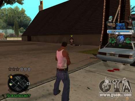 C-HUD для Ghetto for GTA San Andreas second screenshot