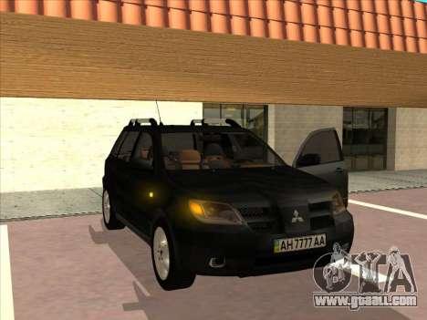 Mitsubishi Outlander for GTA San Andreas right view