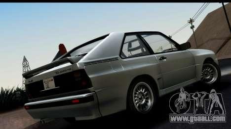 Audi Sport Quattro B2 (Typ 85Q) 1983 [HQLM] for GTA San Andreas left view