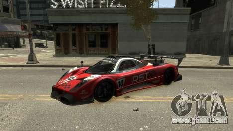 Pagani Zonda R for GTA 4 back left view