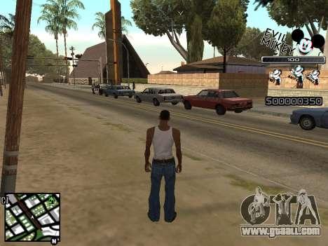 C-HUD Evil Mickey for GTA San Andreas second screenshot