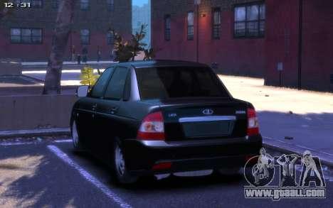 Lada 2170 Priora for GTA 4 left view