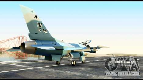 F-16 Aggressor Alaska for GTA San Andreas back left view
