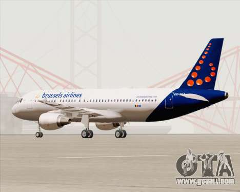 Airbus A320-200 Brussels Airlines for GTA San Andreas back left view