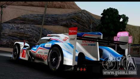 Toyota TS040 Hybrid 2014 for GTA San Andreas left view