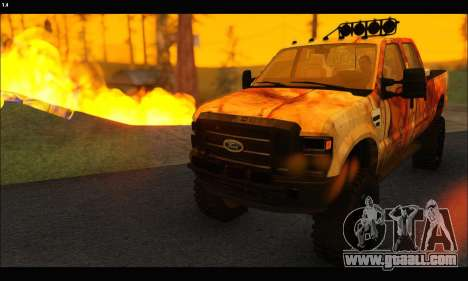 Ford F-250 Rusty Lifted 2010 for GTA San Andreas right view