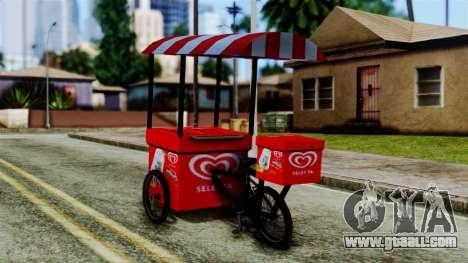 Selecta Ice Cream Bike for GTA San Andreas left view