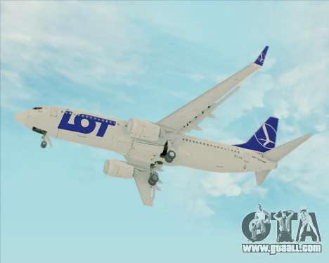 Boeing 737-800 LOT Polish Airlines for GTA San Andreas inner view