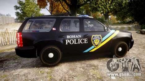 Chevrolet Tahoe 2010 Sheriff Bohan [ELS] for GTA 4 left view