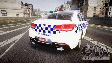 Holden VF Commodore SS Victorian Police [ELS] for GTA 4 back left view