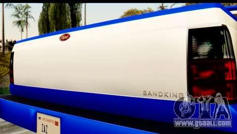 GTA 5 Vapid Sandking XL IVF for GTA San Andreas back view