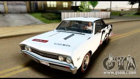 Chevrolet Chevelle SS 396 L78 Hardtop Coupe 1967 for GTA San Andreas interior