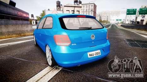 Volkswagen Gol G6 iTrend 2014 rims2 for GTA 4 back left view
