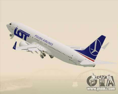 Boeing 737-800 LOT Polish Airlines for GTA San Andreas bottom view
