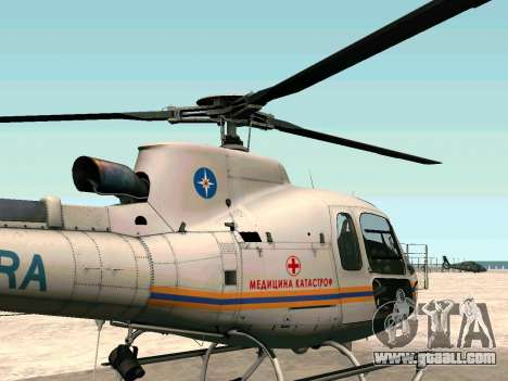Bo 105 EMERCOM of Russia for GTA San Andreas left view