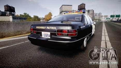 Chevrolet Caprice Highway Patrol [ELS] for GTA 4 back left view