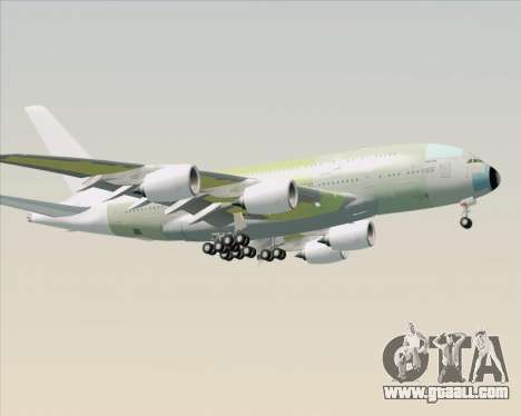 Airbus A380-800 F-WWDD Not Painted for GTA San Andreas back left view