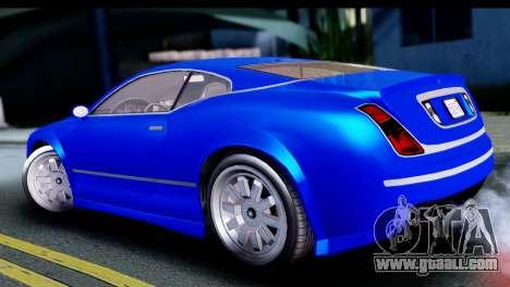 GTA 5 Enus Cognoscenti Cabrio for GTA San Andreas back left view