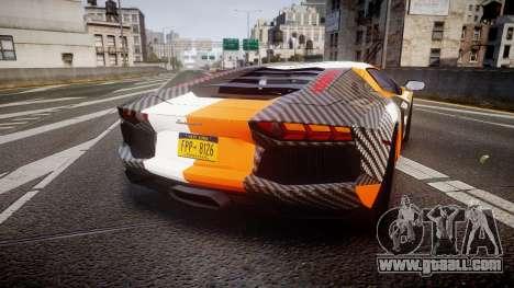 Lamborghini Aventador 2012 [EPM] Hankook Orange for GTA 4 back left view