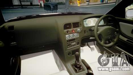 Nissan Skyline R33 GT-R V.spec 1995 for GTA 4 inner view