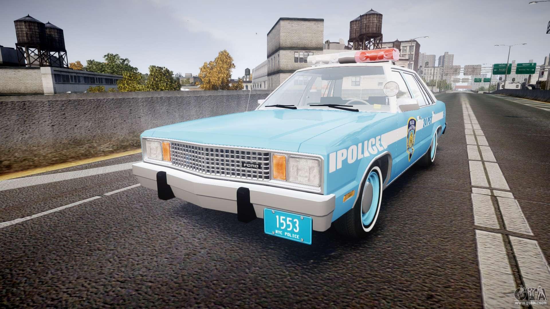 Ford Fairmont 1978 Police V1 1 For Gta 4