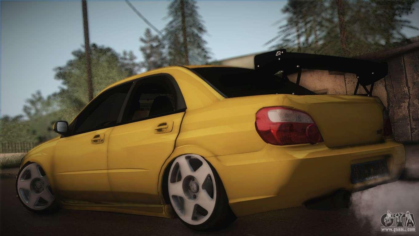Subaru 7 Passenger >> Subaru Impreza WRX STI JDM Style 2015 for GTA San Andreas