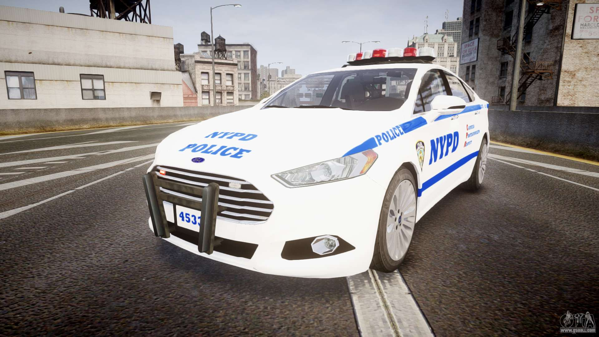 Ford Fusion 2014 Nypd Els For Gta 4
