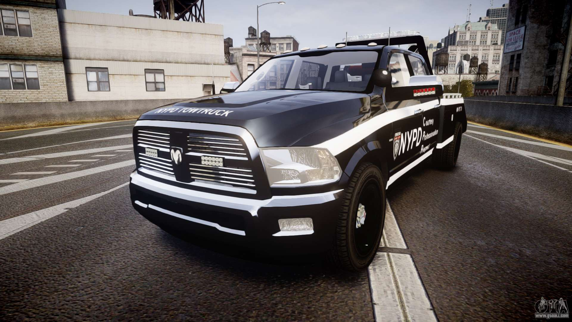 Dodge Ram 3500 NYPD [ELS] for GTA 4