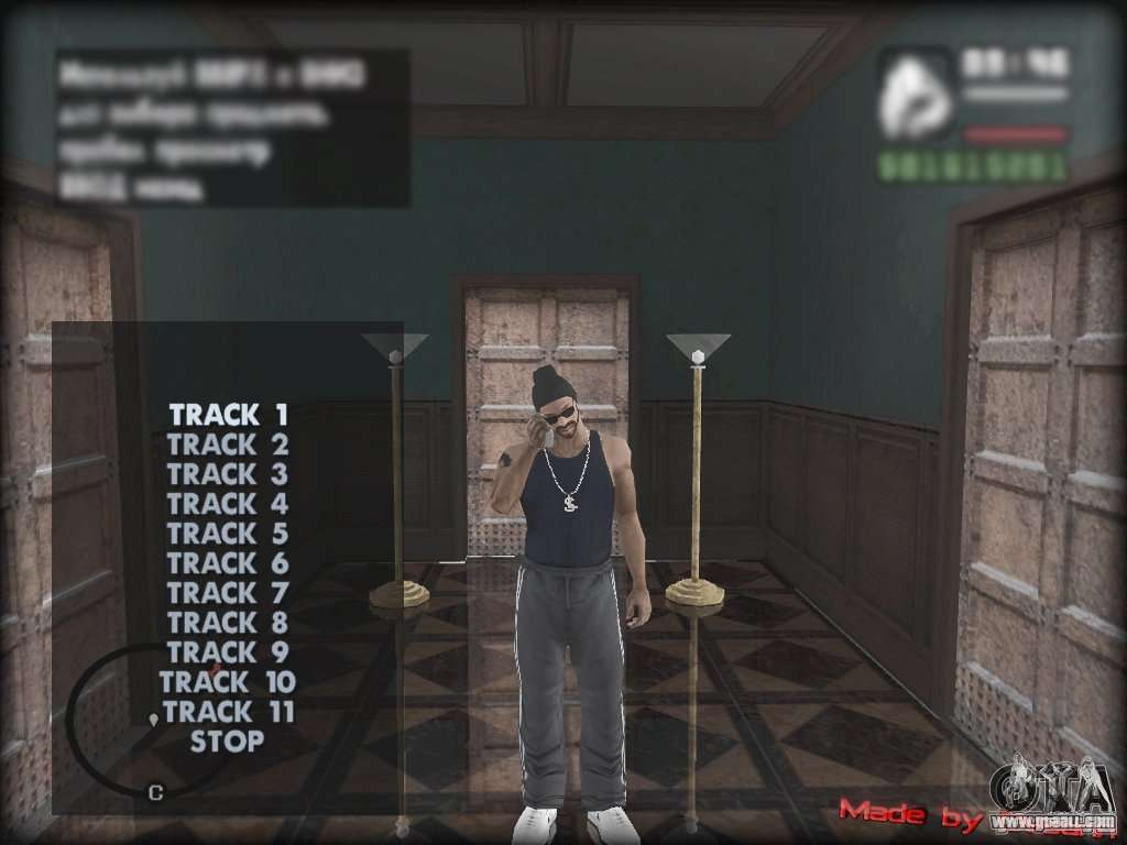 MP3 Player MOD for GTA San Andreas