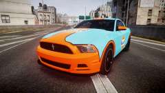 Ford Mustang Boss 302 2013 Gulf for GTA 4