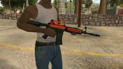Orange M4A1 for GTA San Andreas