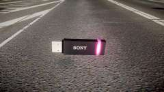 USB flash drive Sony purple
