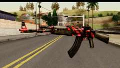 Red Tiger AK47 for GTA San Andreas