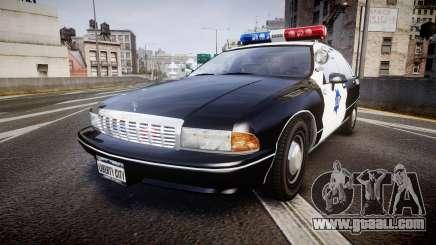Chevrolet Caprice 1990 LCPD [ELS] Patrol for GTA 4