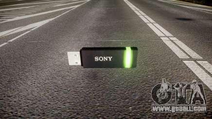 USB flash drive Sony green for GTA 4