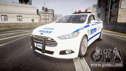 Ford Fusion 2014 NYPD [ELS] for GTA 4