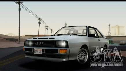 Audi Sport Quattro B2 (Typ 85Q) 1983 [HQLM] for GTA San Andreas