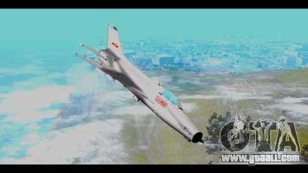MIG-21 China Air Force for GTA San Andreas