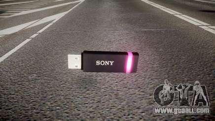 USB flash drive Sony purple for GTA 4