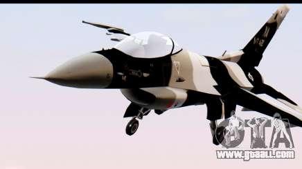 F-16 Aggressor Squadron Alaska Black Camo for GTA San Andreas