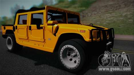 Hummer H1 Alpha OpenTop 2006 Stock for GTA San Andreas back left view