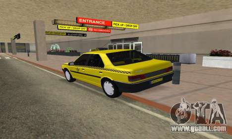 Peugeot 405 Roa Taxi for GTA San Andreas left view