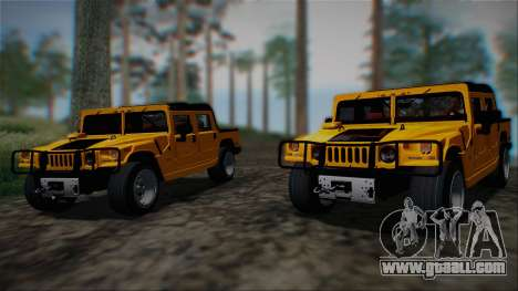 Hummer H1 Alpha OpenTop 2006 Stock for GTA San Andreas back view